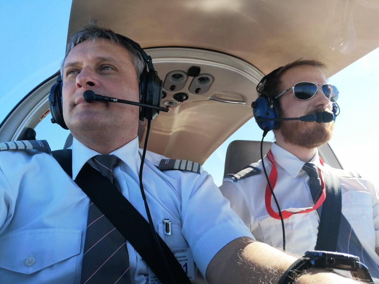 Vladimir Milosavljević, instruktor letenja, Spanija 2020